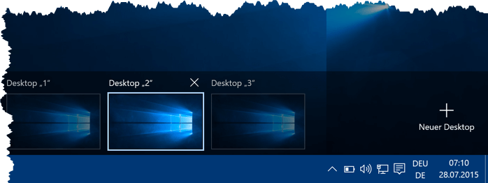 Virtuelle Desktops unter Windows 10