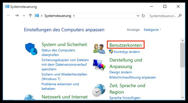 administrator kennwort vergessen windows 10