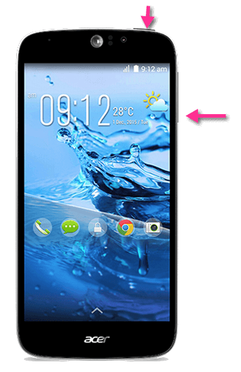 Acer Liquid Jade Z Plus Screenshots erstellen mit Tasten