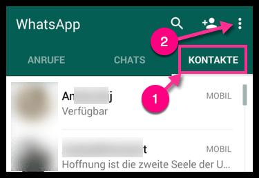 android whatsapp kontakte l schen anleitung techfrage. Black Bedroom Furniture Sets. Home Design Ideas