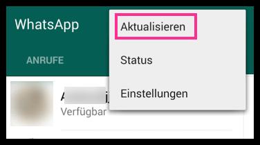 kontakt whatsapp löschen