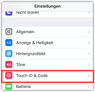 iPhone Touch ID & Code