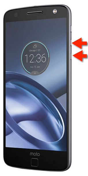 Motorola Moto Z Force: Screenshot-Tasten Screenshot Buttons